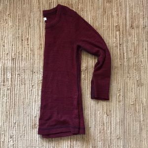 Madewell Navy and wine colored sweater